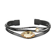 Citrine Cuff by Suzanne Q Evon (Silver & Stone Bracelet)