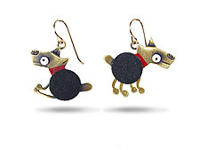 Spot Earrings by Lisa and Scott  Cylinder (Metal Earrings)