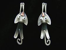 Hang In There Earrings by Lisa and Scott  Cylinder (Metal Earrings)