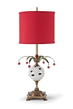 Jester Table Lamp by Mollie Woods (Mixed-Media Table Lamp)
