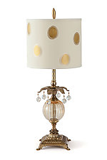 Petite Polka Table Lamp by Mollie Woods (Mixed-Media Table Lamp)