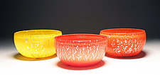 Silver Foil Bowls by Scott Summerfield (Art Glass Bowl)