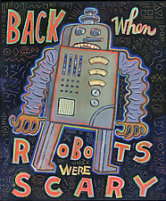 Back When Robots Were Scary by Hal Mayforth (Giclee Print)