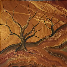 Autumn Glow by Ingela Noren and Daniel  Grant (Wood Wall Art)