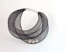 Pearls in Net Bracelet by Dagmara Costello (Nylon & Pearl Bracelet)