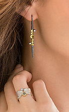 Diamond Lancia Earrings by Davide Bigazzi (Gold & Silver Earrings)