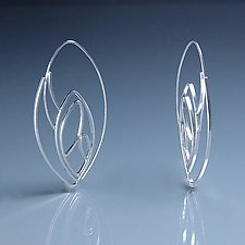 Cicada Hoop Earrings by Susan Panciera (Silver Earrings)