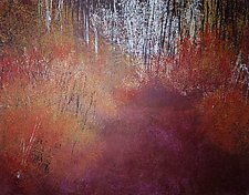 Walk with Me My Love by Jan Jahnke (Mixed-Media Painting)