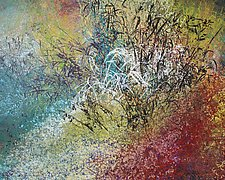 North on County S by Jan Jahnke (Mixed-Media Painting)