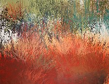 Nates Land #9 by Jan Jahnke (Mixed-Media Painting)