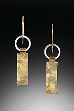 Silver and Gold Tab Earrings by Suzanne Q Evon (Gold & Silver Earrings)