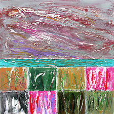 Three Levels by Betty Green (Mixed-Media Painting)