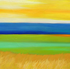 Yellow Sky Over Water by Mary Johnston (Oil Painting)
