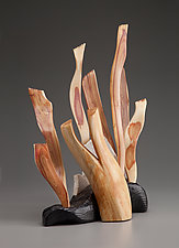 Seaweed Sculpture II by Aaron Laux (Wood Sculpture)