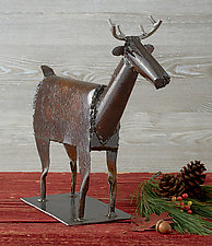 Dennis the Deer (Standing) by Ben Gatski and Kate Gatski (Metal Sculpture)