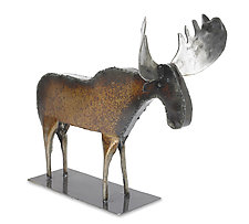 Monte the Moose by Ben Gatski and Kate Gatski (Metal Sculpture)