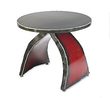 Wishbone Side Table by Ben Gatski and Kate Gatski (Metal Side Table)