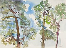 Slash Pines 3 by Shannon Bueker (Watercolor Painting)