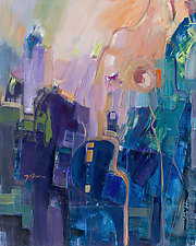 Daybreak Over the City by Carole Guthrie (Acrylic Painting)