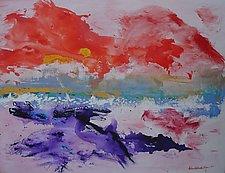 Sunrise Over Virgin Gorda by Pamela Acheson Myers (Acrylic Painting)