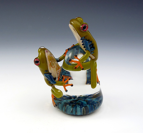 Red-Eyed Tree Frogs Paperweight