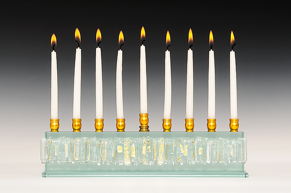 Diamond Icicle Collection Menorah in Clear