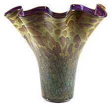 Scalloped Vase by Thomas Kelly (Art Glass Vase)