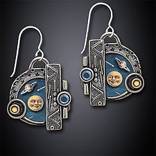Big Bang Earrings by Dawn Estrin (Silver Earrings)