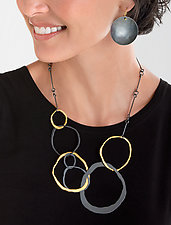 Jumbo Jumble Necklace by Lisa Crowder (Gold & Silver Necklace)