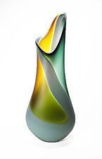Swirl Flava Vase by Mariel Waddell and Alexi Hunter (Art Glass Vase)