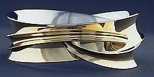 Double Wrapper Bangle by Nancy Linkin (Silver & Gold Bracelet)