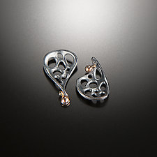 Recollection Earrings by Aleksandra Vali (Gold & Silver Earrings)