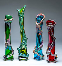 Ivy Vine Vase by Chris Mosey (Art Glass Vase)