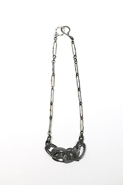 Melted Ovals Chain Link Necklace