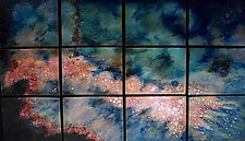 A New Star in Twelve Panels by Cynthia Miller (Art Glass Wall Hanging)