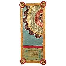 Esperanza's Rainbow Long Tray by Laurie Pollpeter Eskenazi (Ceramic Tray)