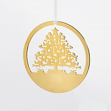 Tannenbaum by Valerie Atkisson (Gold-Plated Ornament)