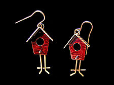 Mobile Home Earrings by Lisa and Scott  Cylinder (Brass Earrings)