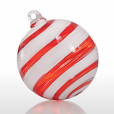 Candy Stripe by Jacob Pfeifer (Art Glass Ornament)
