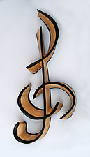 Treble by Kerry Vesper (Wood Wall Sculpture)