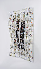 Black & White Retro Mesh by Renato Foti (Art Glass Wall Sculpture)