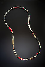 Bead Crochet Necklace—African by Julie Long Gallegos (Beaded Necklace)