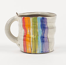 Rainbow Mug by Noelle VanHendrick and Eric Hendrick (Ceramic Mug)