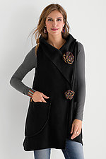 Cozy Knots Fleece Vest by Giselle Shepatin (Fleece Vest)