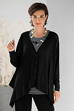 Matte Jersey Faux Cardi by Planet   (Knit Top)