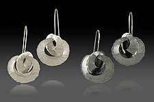 Double Orbit Drop Earrings by Lisa D'Agostino (Silver Earrings)
