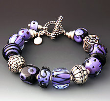 Purple Haze Bracelet by Dianne Zack (Beaded Bracelet)