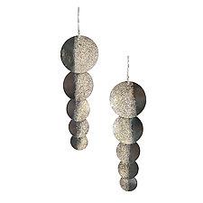 Silver Shadow Shimmer Earrings by Jenny Reeves (Silver Earrings)