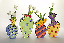 Spring Set by Diana Crain (Ceramic Wall Sculpture)