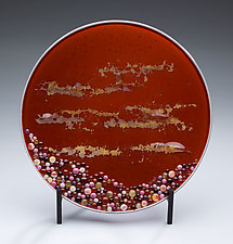 Hawaiian Sunset by Denise Bohart Brown (Art Glass Sculpture)